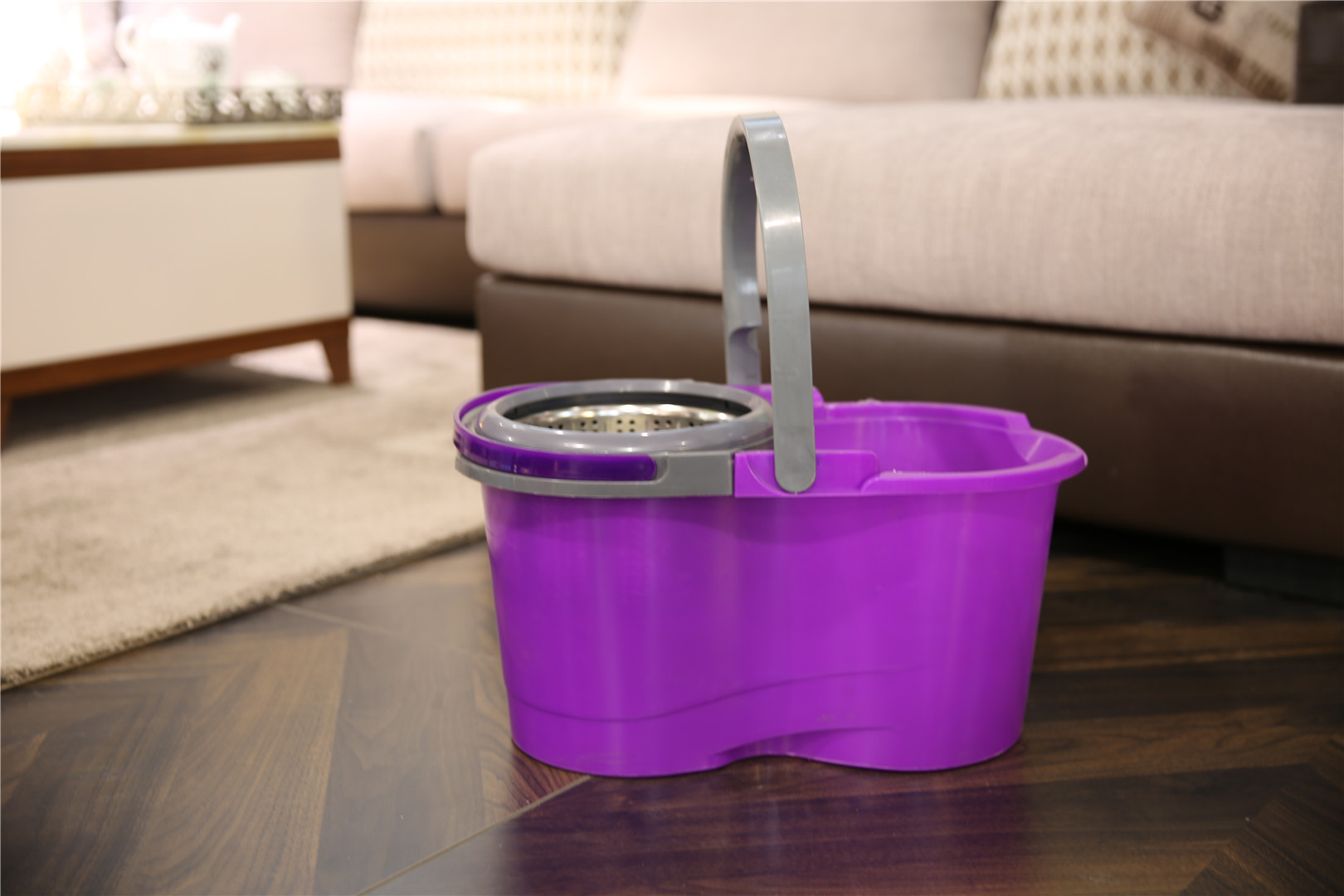 KXY-XFT 360 spin mop with removable basket