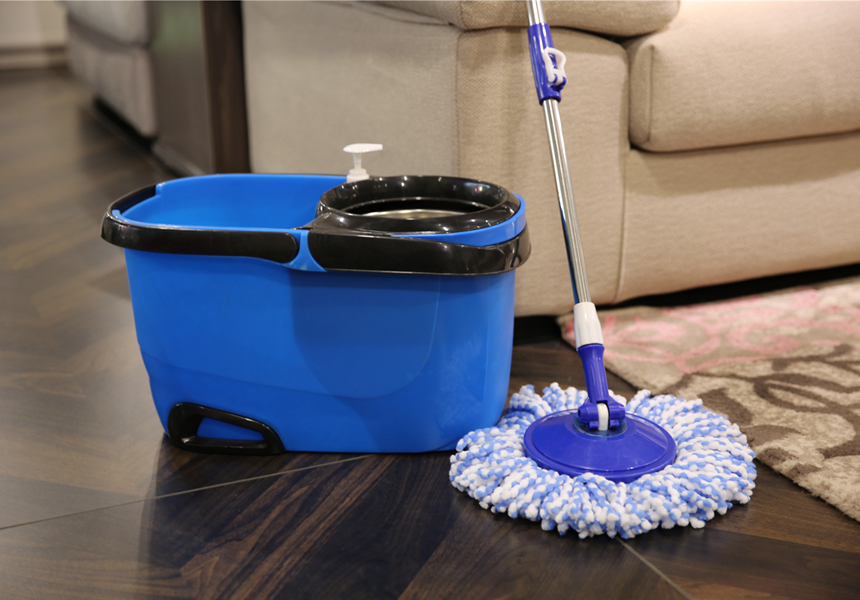 KXY-FTM 360 spin mop with removable basket