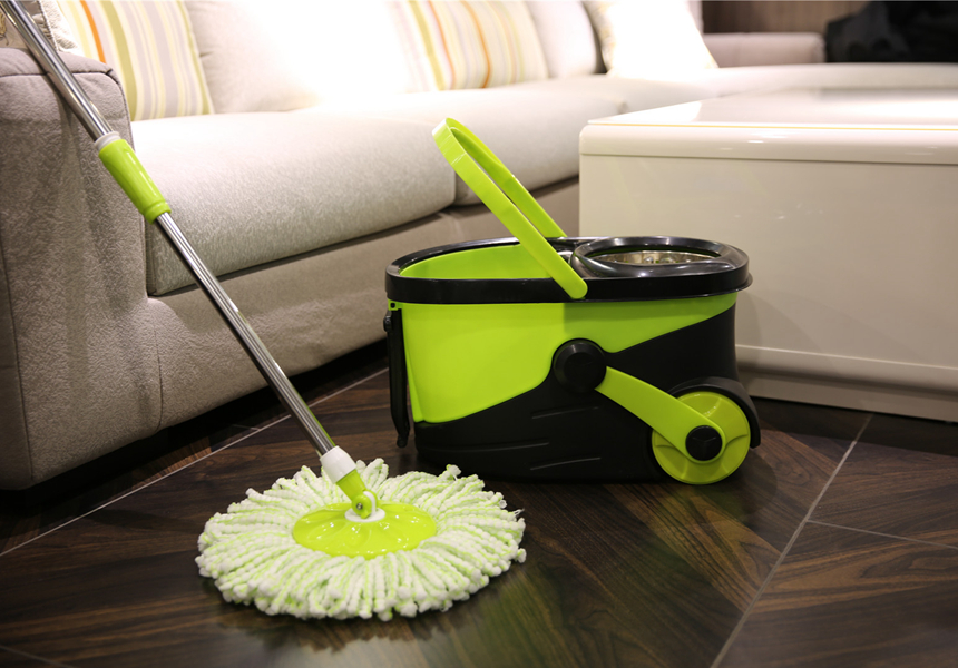 KXY-PC Deluxe 360 spin mop with wheels