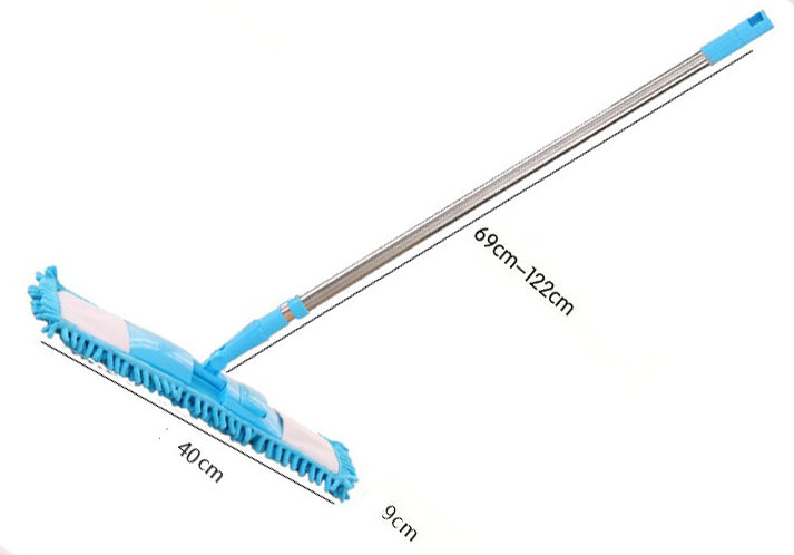 Detachable Soft Chenille Mop Super-absorbent Microfiber Cleaning Mop