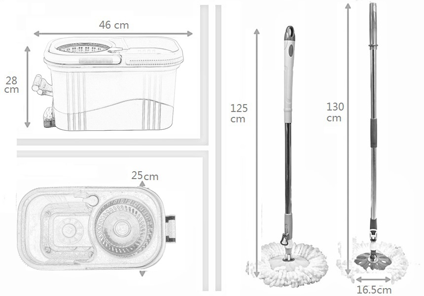 KXY-JFT spin mop 360 with foot pedal