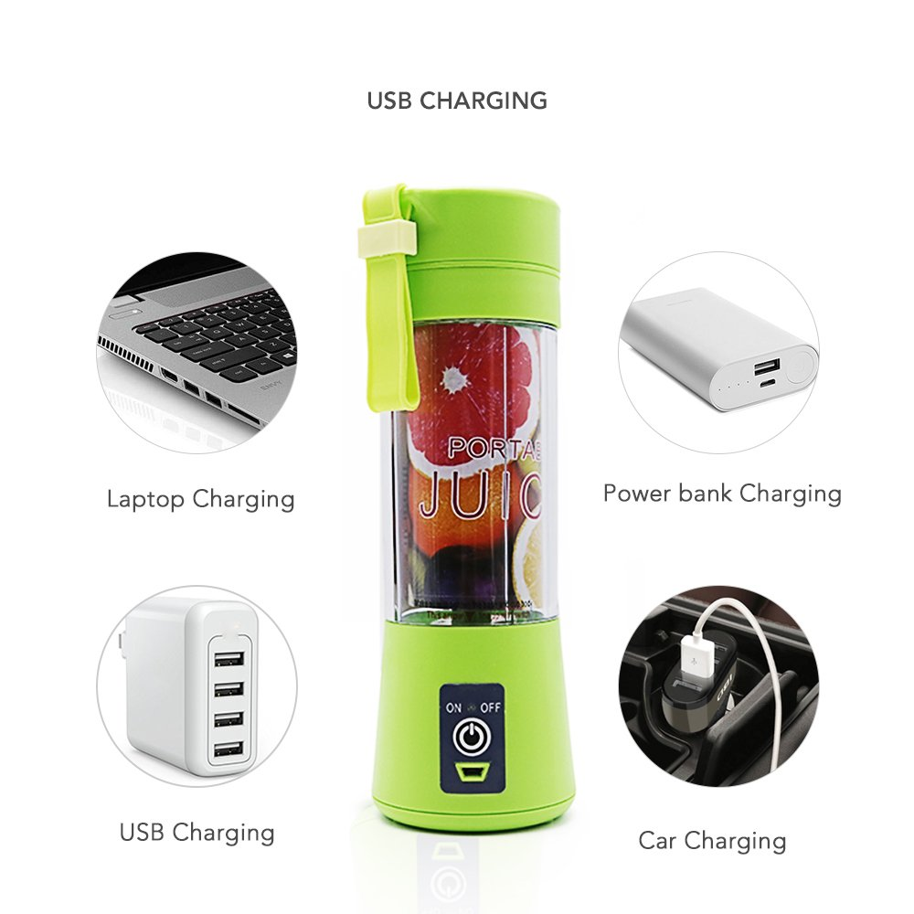 Portable USB Electric Fruit Juicer Handheld Vegetable Juice Maker