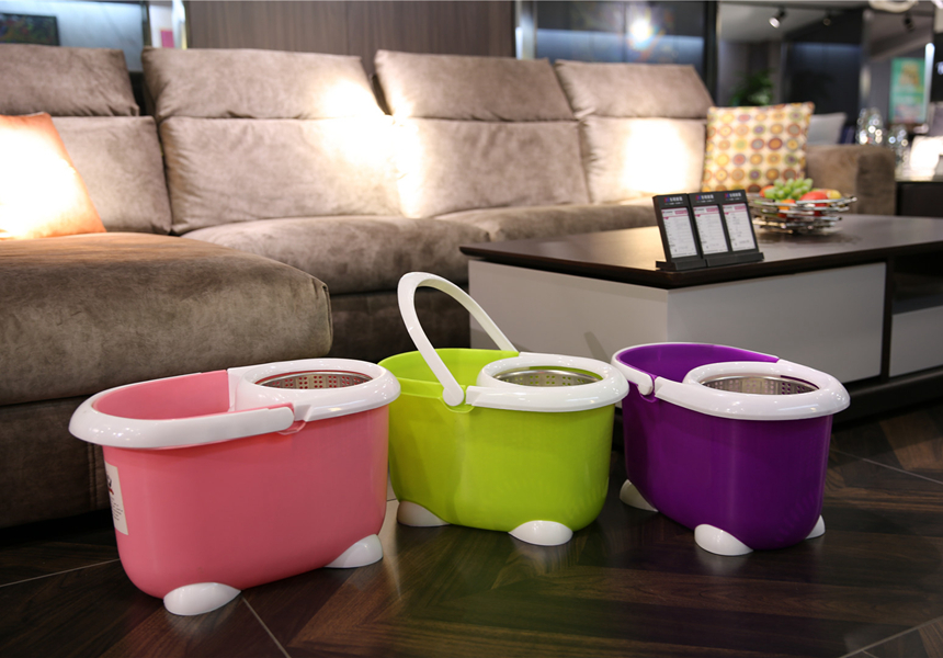 KXY-QQ cute spin mop magic mop bucket