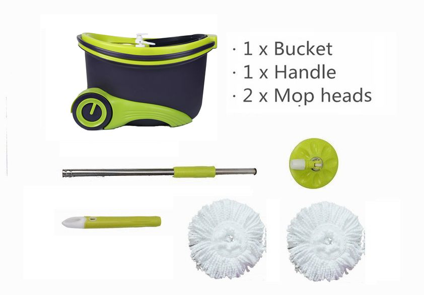KXY-PCH Spin Mop with Wheels