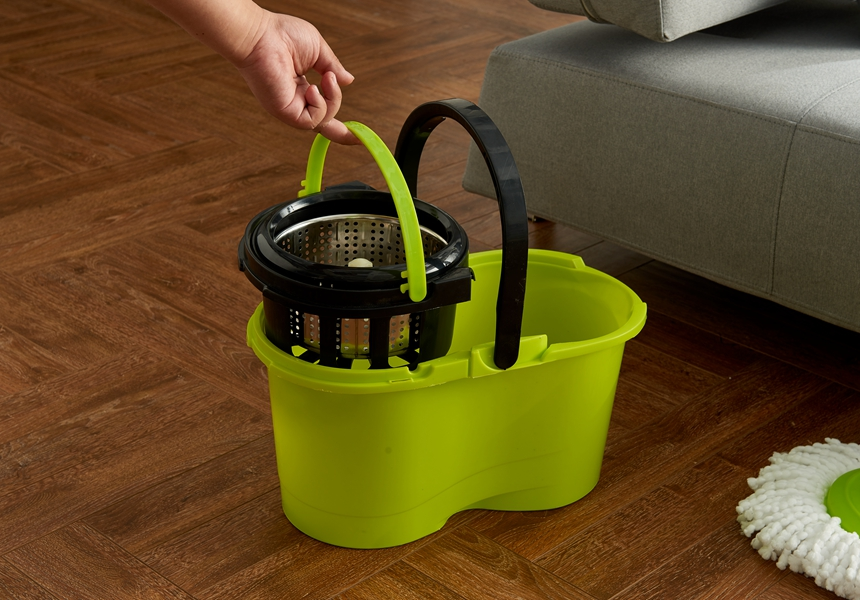 KXY-XFT Spin Mop with Removable basket