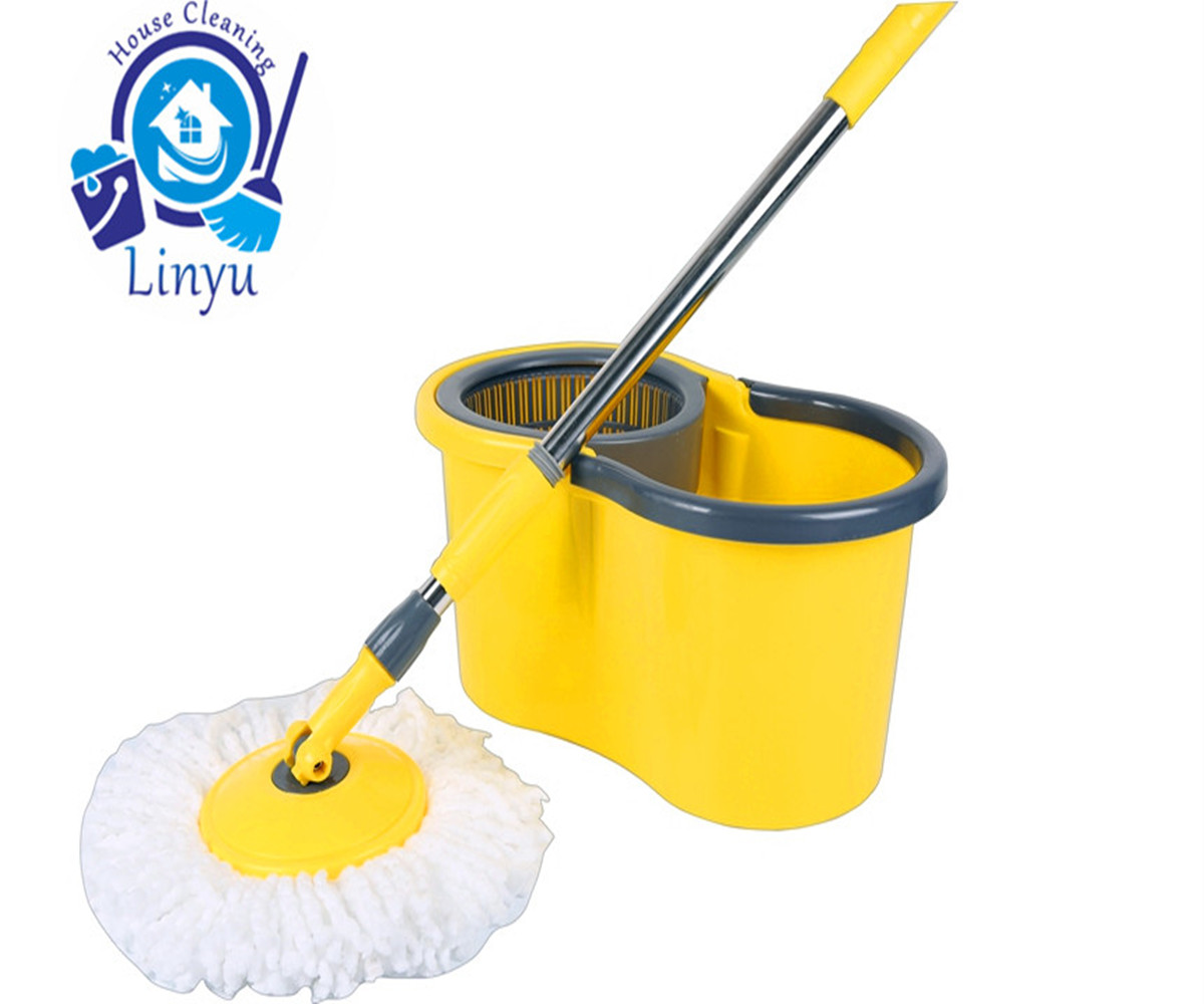 After The 360 Degrees Spin Dry Magic Mop Is Used