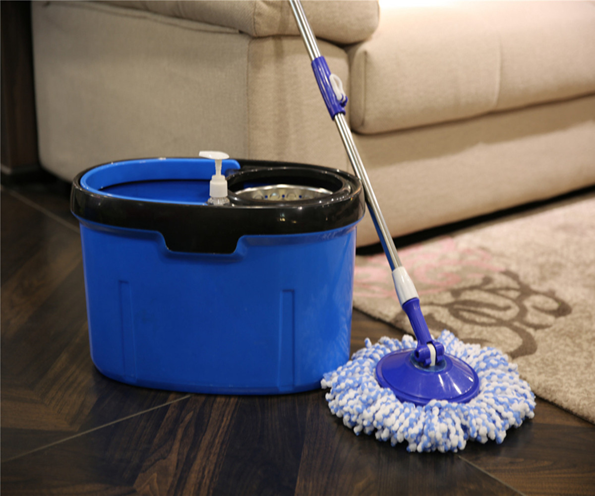 Original Hand Push Spin Mop Material And Stain Treatment