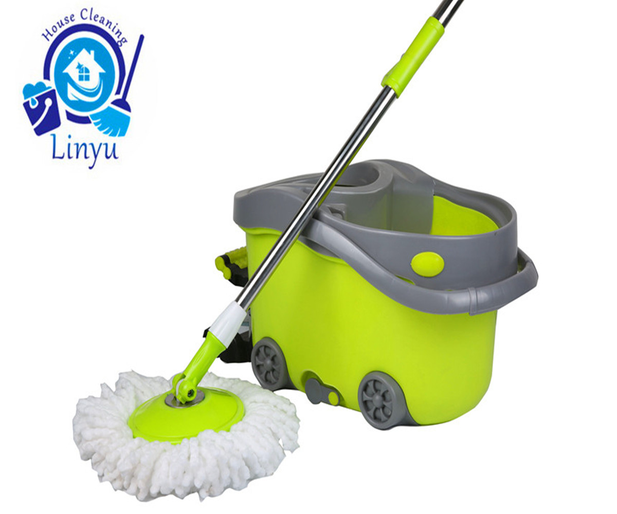 Powerful Self-Wringing Double Sided Flat Mop Are Shining